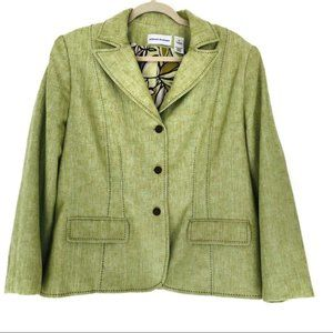 Alfred Dunner (16) Green Fitted Blazer